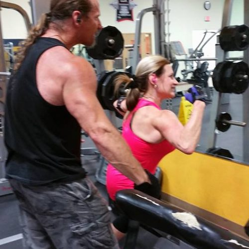 Sparky & Joni at the gym (2)